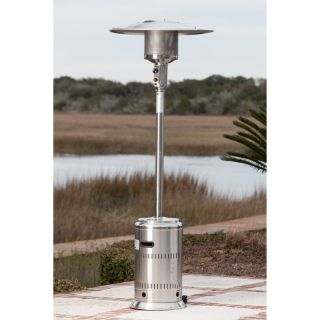 Fire Sense Stainless Steel Commercial Patio Heater Multicolor   01775