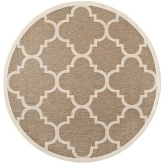Safavieh Indoor/ Outdoor Courtyard Brown Rug (53 Round)