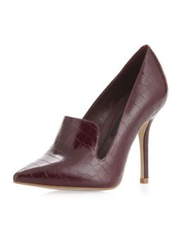 Rhonda Pointed Toe Loafer Pump, Burgundy