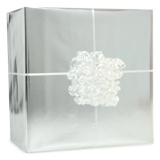 Metallic Silver Gift Wrap Kit