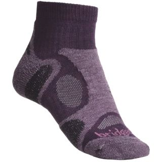Bridgedale Trailblaze Lo Socks   Merino Wool  Ankle  Midweight (For Women)   PLUM (S )