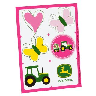 John Deere Pink Sticker Sheets