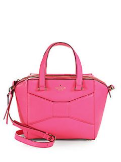 Kate Spade New York Bow Leather Satchel   Pink