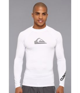 Quiksilver All Time L/S Surf Shirt AQYWR00035 Mens Swimwear (White)