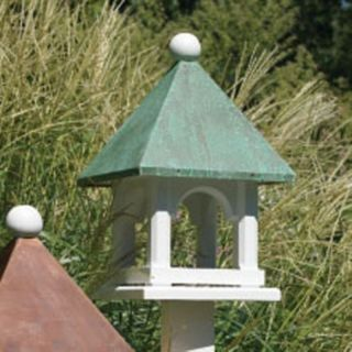 Lazy Hill Farms Blue Verde Copper Roof Mini Bird House   43423