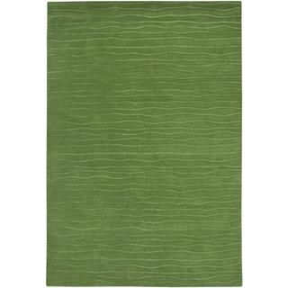 Vinyasa Halcyon Sage Green Rug (56 X 8) (100 percent New Zealand WoolContains latex YesPile height 0.39 inchesStyle IndoorPrimary color GreenPattern SolidTip We recommend the use of a non skid pad to keep the rug in place on smooth surfaces.All rug