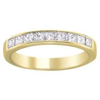 1/4 CT.T.W. Diamond Band Ring in 14K Yellow Gold   Size 6.5