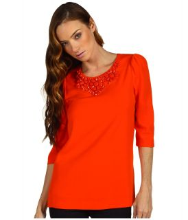 Kate Spade New York Vanessa Top Womens Short Sleeve Pullover (Orange)