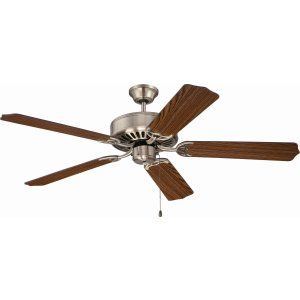 Ellington Fans ELF E52AB Pro 52 Ceiling Fan Motor only with Optional Light Kit