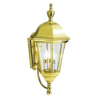 Kichler 9489PB Outdoor Light, Transitional Wall 3 Light Fixture Polished Brass