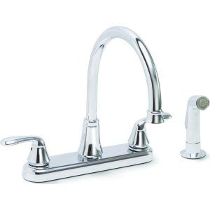 Premier Faucets 126967 Waterfront Lead Free Two Handle Kitchen Faucet with Spray