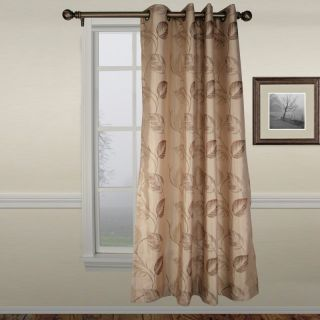 A L Ellis Inc Ellis Astonish Taupe Grommet Top Lined Panel   50 x 84 in.