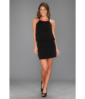 Laundry by Shelli Segal Sleeveless Blouson Dress w/ Hardware Womens Dress (Black)