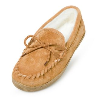 Lamo Womens Suede Moccasin Slippers   Chestnut Multicolor   P002W 6 CHESTNUT, 6
