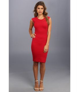 French Connection Dani Lace Cap Sleeve Dress Womens Dress (Red)