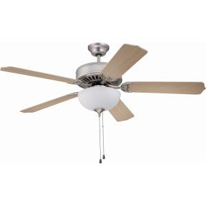 Ellington Fans ELF E201BN Pro 201 52 Ceiling Fan Motor only with Optional Light