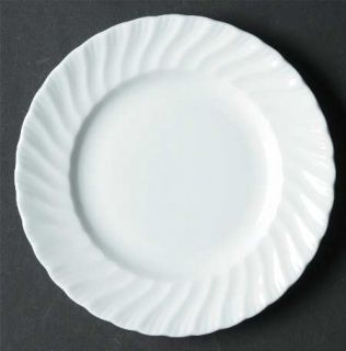 Royal Worcester Snowflake All White Bread & Butter Plate, Fine China Dinnerware