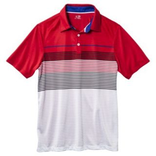 C9 by Champion Mens Advanced Striped Golf Polo Shirt   Red XL