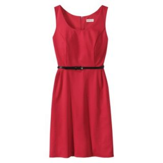 Merona Petites Sleeveless Fitted Dress   Red XLP