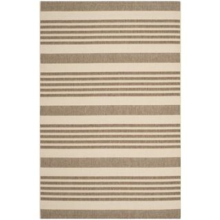 Safavieh Indoor/ Outdoor Courtyard Brown/ Bone Rug (4 X 57)