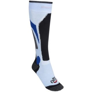 Hot Chillys Lo Volume Socks   Lightweight  Over the Calf (For Women)   ICE/BLACK/CHARCOAL (M )