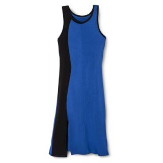 Mossimo Womens Colorblock Midi Dress   Blue/Black XS
